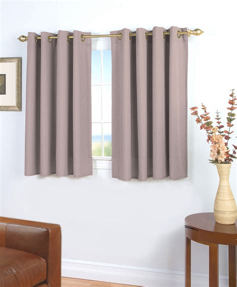 45 in curtains glasgow grommet curtain with wand for short windows
