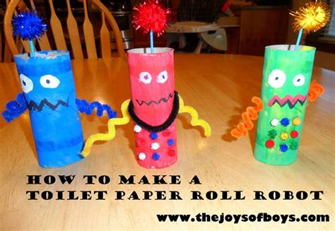 Paper Craft For Boys - robot crafts archives the joys of boys
