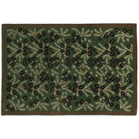 6 wool rug pine hooked wool rug 6 x 9