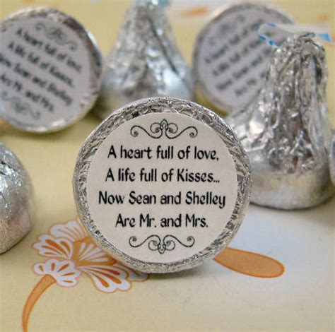 personalized hershey kisses for wedding mr and mrs kisses stickers personalized by