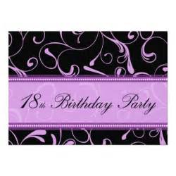 purple swirl 18th birthday party invitation cards 5 quot x 7