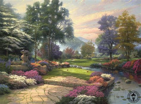 living water landscape kinkade dead millionaire painter of light dies aged 54 daily mail