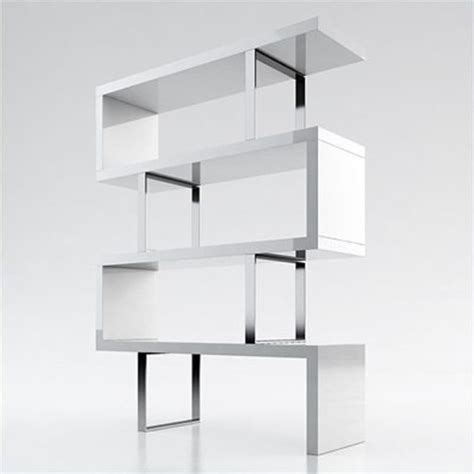 Modloft Modular 4 Shelf Pearl Bookcase In White Lacquer White Lacquer Bookcase