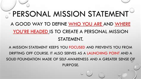 how to start a personal mission statement describe what happened how did that make you feel ppt