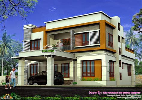 flat roof house plans may 2015 kerala home design and floor plans