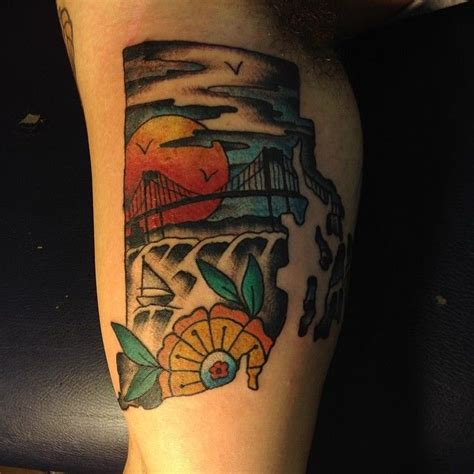 rhode island tattoo rhode island with pell bridge detail on gabybaby9