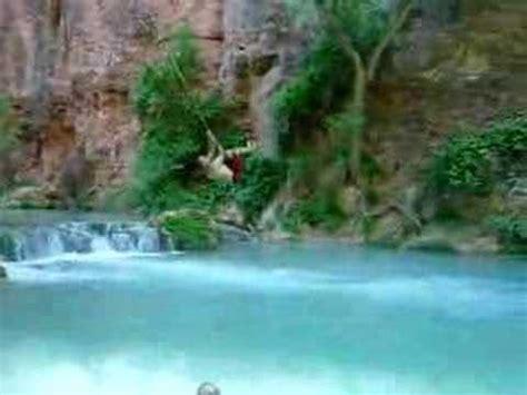 grand canyon rope swing cost havasupai falls rope swing youtube