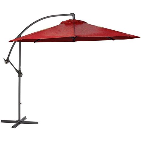 Home Decorators Collection 8 9 Ft Cantilever Patio Home Depot Patio Umbrella
