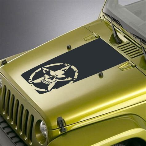 army jeep decals army skull jeep blackout decal sticker jeepazoid