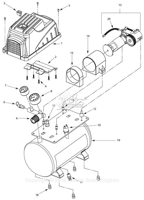 cbell hausfeld fp2090 parts diagram for air compressor parts