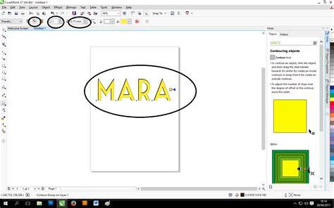 tutorial corel draw efek teks mendesain teks dengan efek countour di corel draw kelas