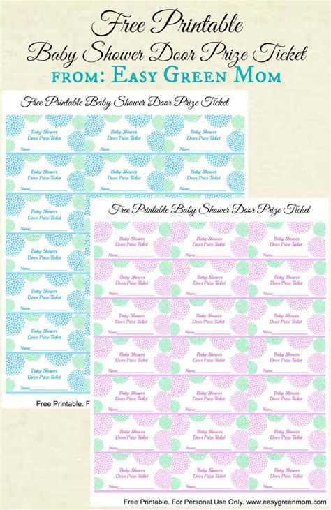 Baby Shower Door Prize by Free Printable Baby Shower Door Prize Tickets For Boy Or