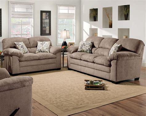 tan couch set simmons microfiber fabric puff musk sofa  loveseat