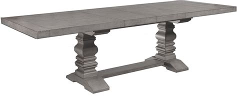 pedestal rectangle dining table prospect hill gray rectangular extendable pedestal dining