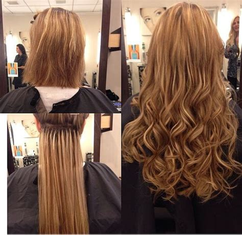 thin hair after extensions hair extensions before and after hair extensions