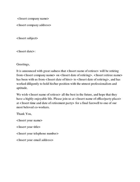 thank you letter to your who is retiring resignation letter format resignation letter to coworkers