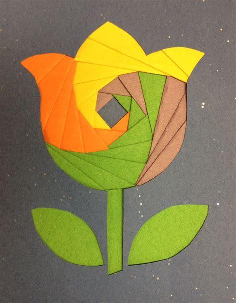 Iris Paper Folding - iris paper folding exle tulip pima county library