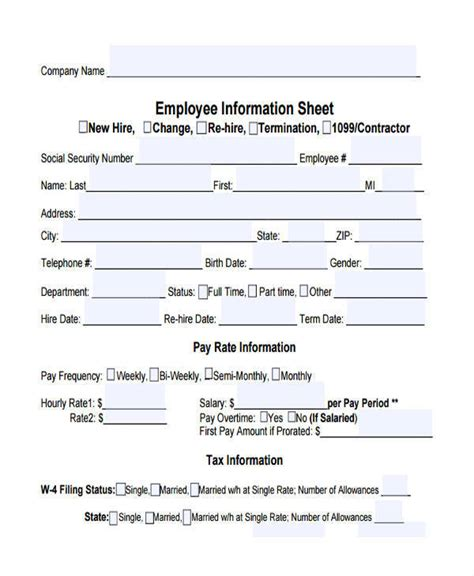 sle employee information sheet related keywords
