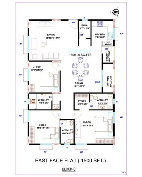 cool 2 bedroom south facing duplex house floor plans 2 bedroom house plans 30 x 40
