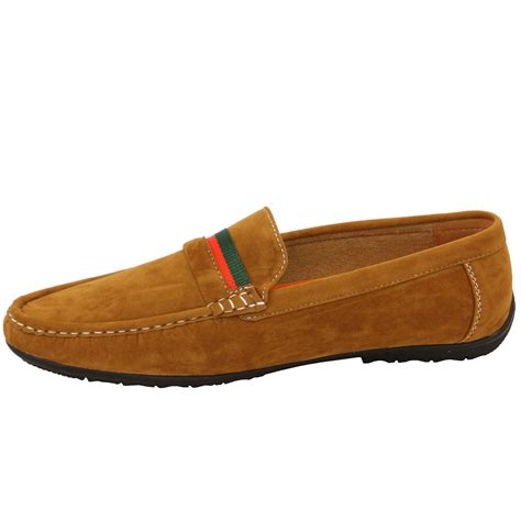 driving loafers mens mens moccasins suede look driving loafers slip on boat