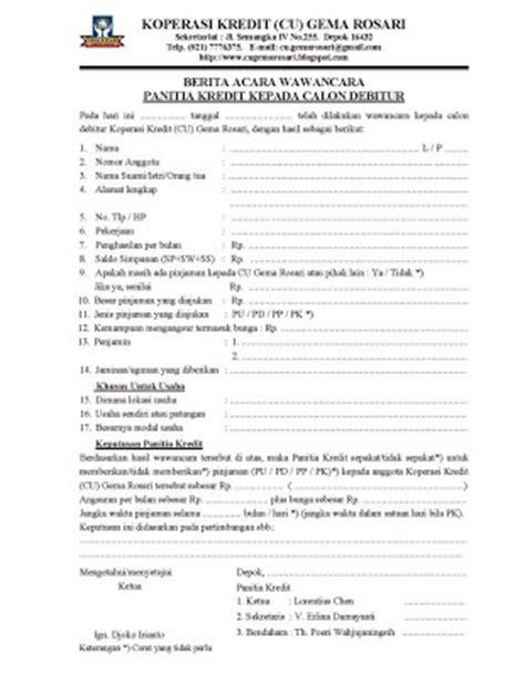 format berita acara rapat anggota koperasi gema rosari form baru