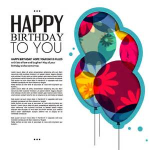 birthday card design template template birthday greeting card vector material 01