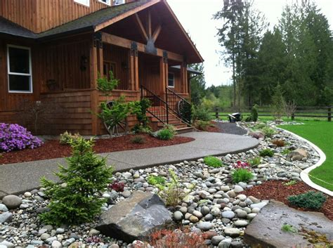 landscaping with river rock river rock landscaping for your exterior household tips highscorehouse