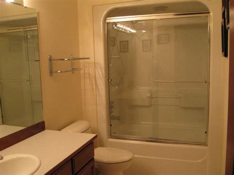 shower bath unit one acrylic tub shower unit bathroom seattle by mod construction llc