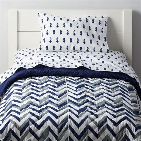 Land Of Nod Toddler Bedding by Prints Toddler Bedding Blue Rocket The Land Of Nod