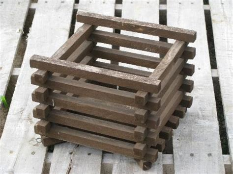 Hanging Wooden Planter Boxes by Primitive Slatted Wood Crate Garden Or Hanging Planter Box