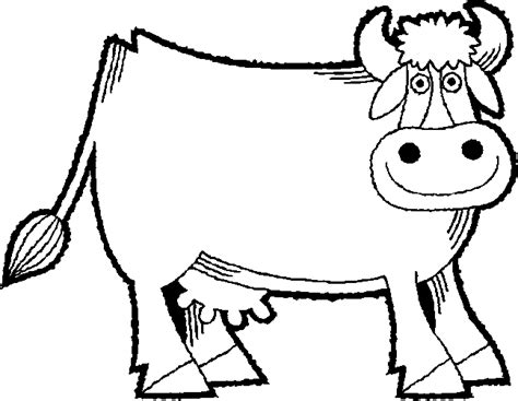 simple cow coloring page simple cow drawing coloring coloring pages