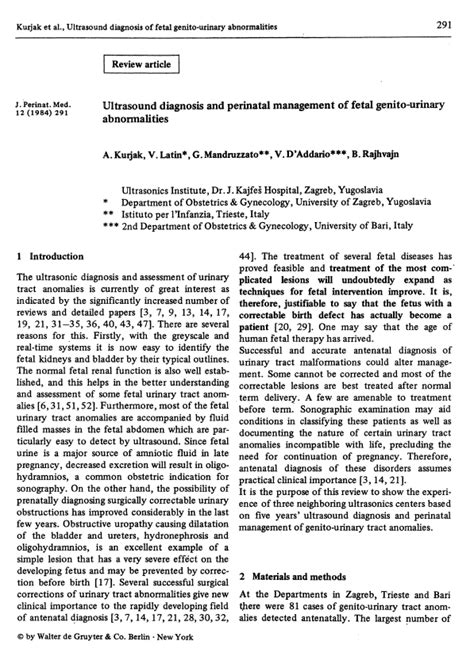 review article journal  perinatal medicine official journal   wapm