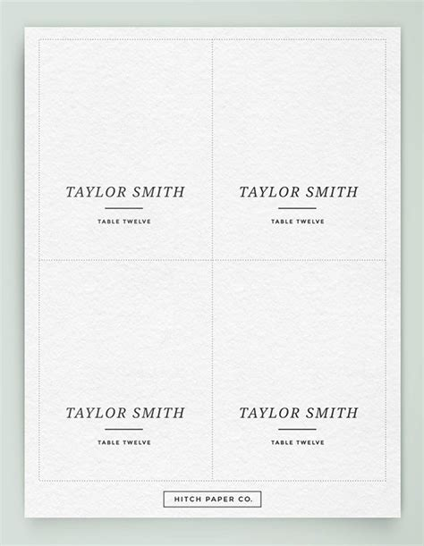 50 free printable wedding place cards foryour guests