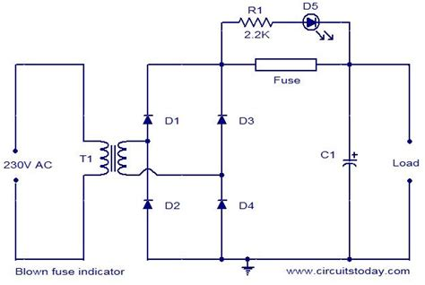 blown fuse indicator circuit electronic circuits and