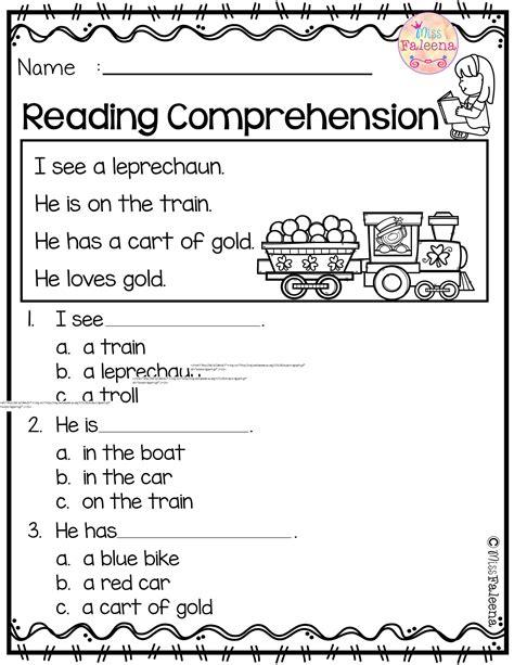 printable reading comprehension worksheets popisgrzegorz