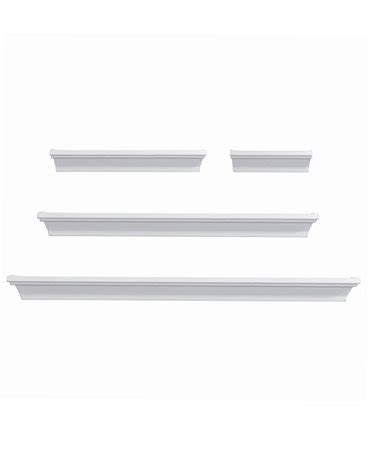 mikasa home decor mikasa home decor set of 4 white wall shelves mirrors
