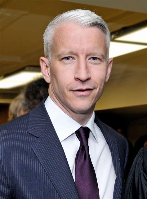 who is the cnn host with white hair anderson cooper wikipedia