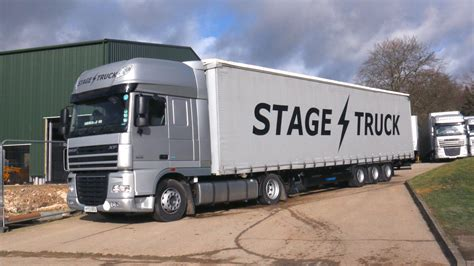 curtain side box truck mega curtain side stagetruck