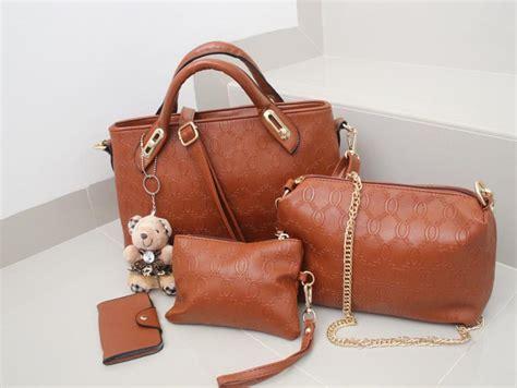 Tas Import Ic86609 Brown Leather Bag Fashion Korea Casual Handbag Zip vicria tas branded wanita korean style rz4699 4in1 cokelat lazada indonesia
