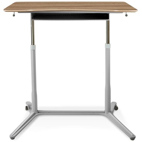 Mobile Sit Stand Desk Adjustable Height Walnut Dcg Adjustable Height Sit Stand Desk