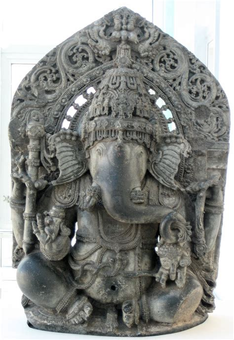 file seated ganesha 1200 1300 india karnataka state