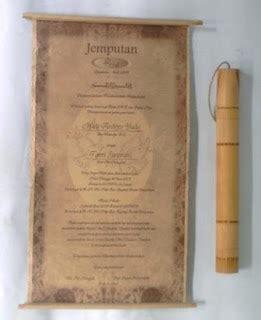 contoh undangan pernikahan unik paling baru