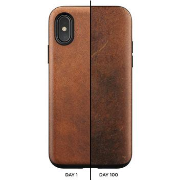 Nomad Clear For Iphone X Brown Original nomad iphone x genuine leather rugged rustic brown