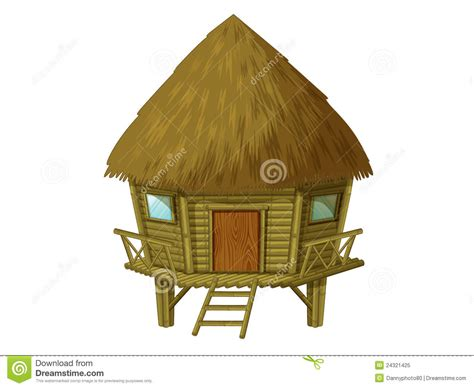 Free Small House Plans by Cartoon Hut Royalty Free Stock Photo Image 24321425