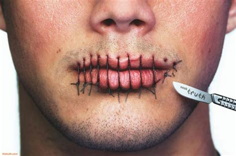 tattoo sewn lips sewed mouth funny picture