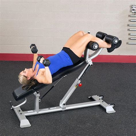 body solid sit up bench body solid pro club line sab500 commercial ab bench