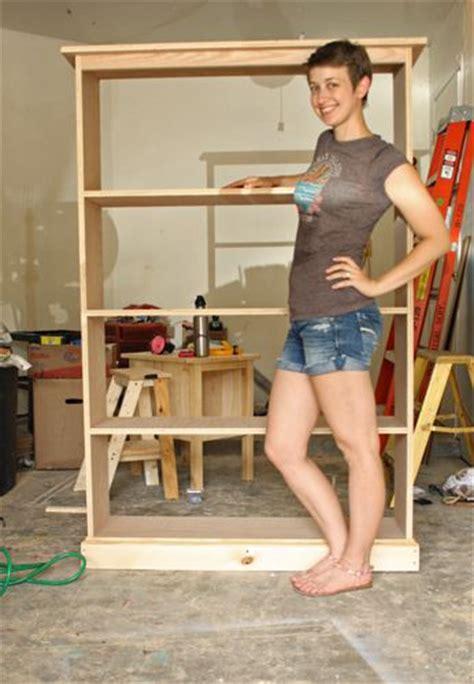 build bookcase plans build  simple pine bookshelf