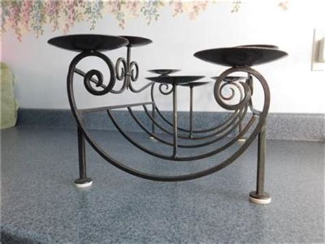 fireplace candelabra wrought iron pillar candle holder