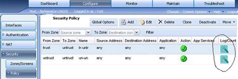Juniper Firewall Srx220h2 juniper networks srx how to enable and view traffic