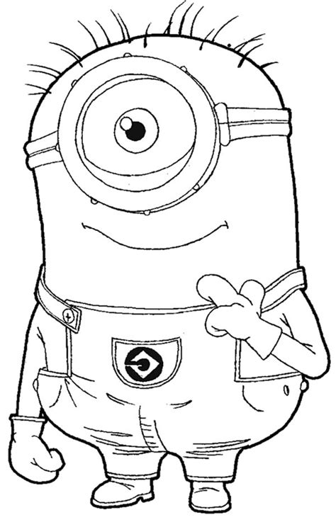 minion carl coloring page carl the minion in despicable me coloring page netart
